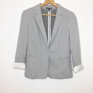 Express gray casual blazer. Rolled cuffs size 6
